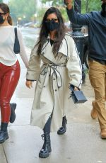 Kourtney Kardashian & Addison Rae Get the double umbrella treatment at the Greenwich Hotel in New York
