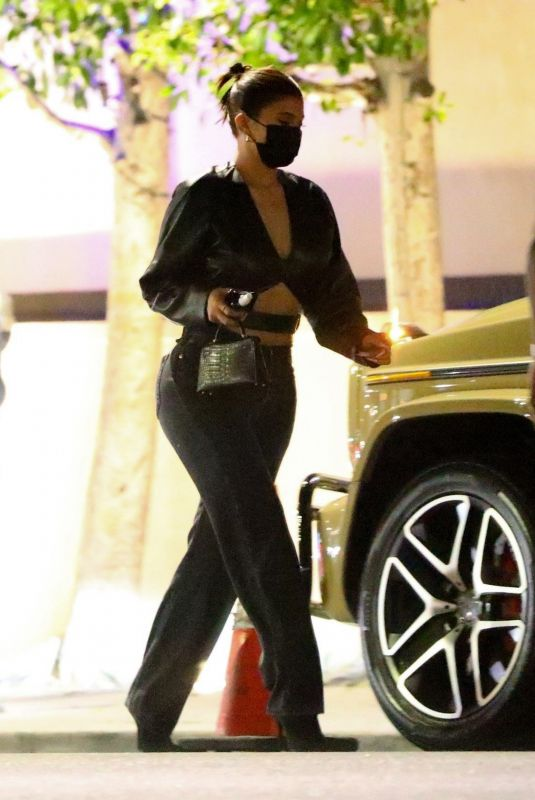 Kylie Jenner Leaves after dinner with her friend Yris Palmer at Nobu in Los Angeles