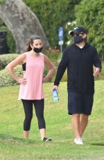 Lea Michele Goes for walk after having a baby in Santa Monica