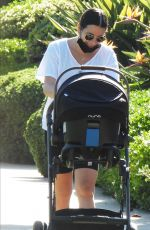 Lea Michele Out for a walk with her baby boy in Santa Monica