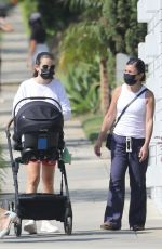 Lea Michele Takes her baby out for a walk in Santa Monica