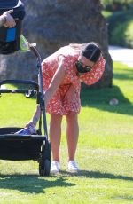 Lea Michele Takes her baby out for an afternoon walk in Brentwood