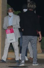 Leonardo DiCaprio and Camila Morrone keep a low profile while out on a dinner date in Malibu