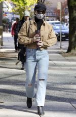Lili Reinhart Gets coffee in Vancouver