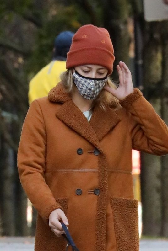 Lili Reinhart On a walk in Vancouver
