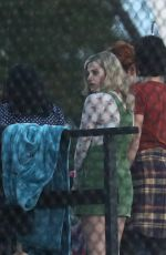 Lili Reinhart On the set of Riverdale in Vancouver