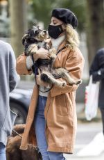 Lili Reinhart Walks her dog in Vancouver while filming on