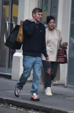 Lily Allen Out for a stroll with a friend in London