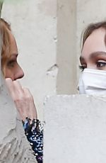 Lily-Rose Depp Leaving the Chanel fashion show in Paris
