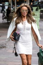 Lizzie Cundy Seen shopping at Harrods in London