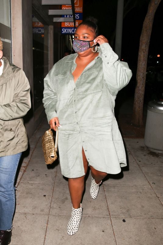Lizzo Looks radiant while out to dinner in West Hollywood