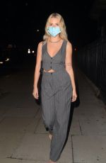 Lottie Moss Arrives at Portland Square for a dinner to celebrate the launch of new social media app