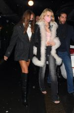 Lottie Moss & Hana Cross Pictured at Bagatelle in London