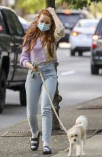 Madelaine Petsch Walking Olive out in Vancouver