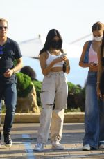 Madison Beer Waits for her car after lunch with a group of friends at Nobu in Malibu