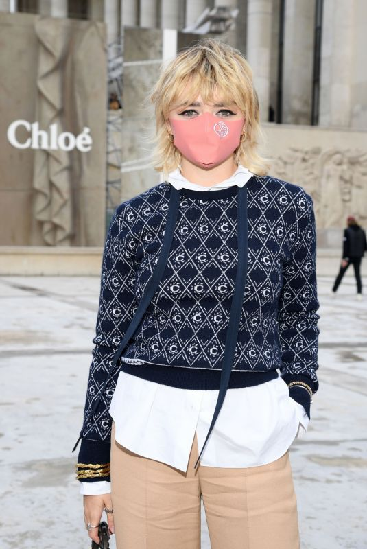 Maisie Williams At Chloe show Spring Summer 2021 Paris Fashion Week, France