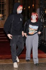 Maisie Williams Seen leaving the Ritz after the Reuben Selby Fashion Show during the Paris Fashion Week 2020