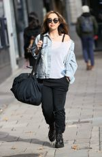 Myleene Klass Outside Smooth Radio Studios, London