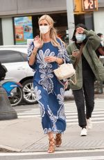 Nicky Hilton Looks bold and beautiful in blue for some shopping in New York