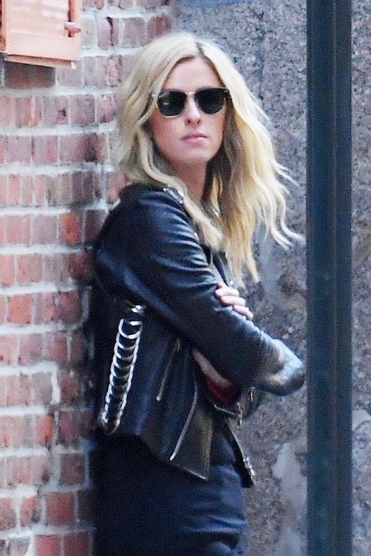 Nicky Hilton Poses during a photo shoot in the streets of SoHo