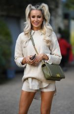 Olivia Attwood At The Only Way is Essex TV Show filming in Essex