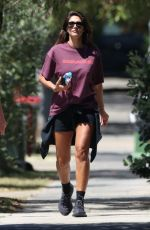 Pia Miller Enjoying her morning walk while out and about in Bondi, Australia