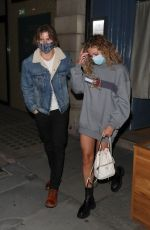 Pixie Lott Pictured at Taka restaurant in Mayfair