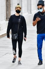 Pom Klementieff Enjoying some time off from filming with a mystery male friend taking in the sights in Venice