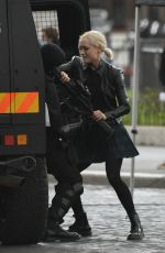Pom Klementieff Filming a fight scene for