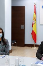 Queen Letizia Attends a working meeting with the Spanish Committee of Representatives of People with Disabilities in Madrid