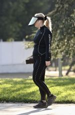 Rebel Wilson Tries to go incognito in a mirrored visor during her daily walk in Los Angeles