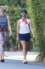 Reese Witherspoon Looks excited as she enjoys some fresh air during an exercise session with her girlfriends in Brentwood