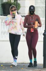Rita Ora Heads to the gym with a friend in London