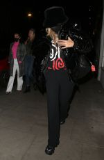 Rita Ora Out for dinner at Taqueria Mexican restaurant with friends in Notting Hill