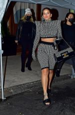 Rosalia Steps out in full 2021 Balmain set and matching bag in New York