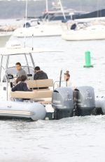 Sailor Brinkley-Cook On boat ride in The Hamptons
