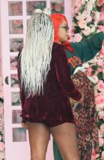 """Saweetie Stops at """"Pretty Little Things"""" showroom while rocking her """"Tap In"""" merchandise in West Hollywood"""