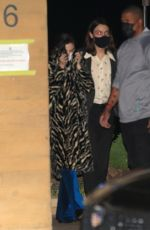 Selena Gomez Keeps a low profile as she is spotted leaving dinner with friends at Nobu in Malibu
