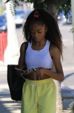 Skai Jackson All smiles as she heads into DWTS studio in Los Angeles