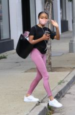 Skai Jackson Heading out to her Uber after her dance practice in Los Angeles