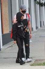Skai Jackson Leaving the DWTS studio with Alan Bersten after finish their dance practice in Los Angeles