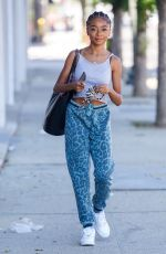 Skai Jackson Looks great as she leaving her dance practice at the DWTS studio in Los Angeles
