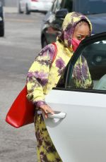 Skai Jackson Looks stylish in tie-dye outfit as she leaves the DWTS studio after her dance practice in Los Angeles