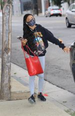 Skai Jackson Seen getting dropped off at the DWTS studio in Los Angeles
