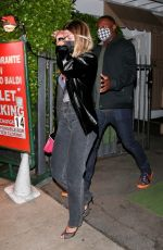 Sofia Richie Leaves dinner with friends in Santa Monica