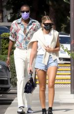 Sofia Richie Puts on a leggy display as she steps out for lunch with a friend at Tra Di Noi in Malibu