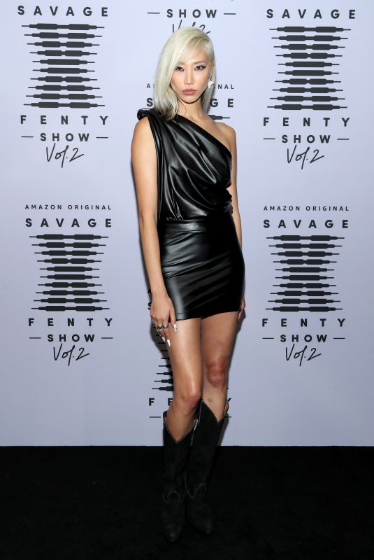 Soo Joo Park On the red carpet for the Savage X Fenty Vol. 2 show, Los Angeles