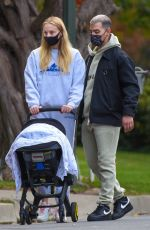 Sophie Turner Take their baby daughter Willa out for a Sunday stroll with her nanny in Los Angeles