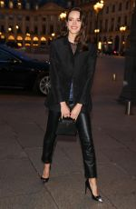 Stacy Martin Arrives at a Louis Vuitton dinner party in Paris