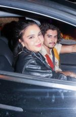 "Stella Hudgens and Eric Unger enjoy Halloween festivities with friends at ""Haunt"